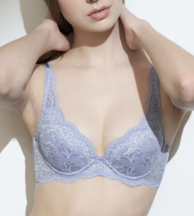 Natural Elegance Wired Padded Bra - EVENING HAZE
