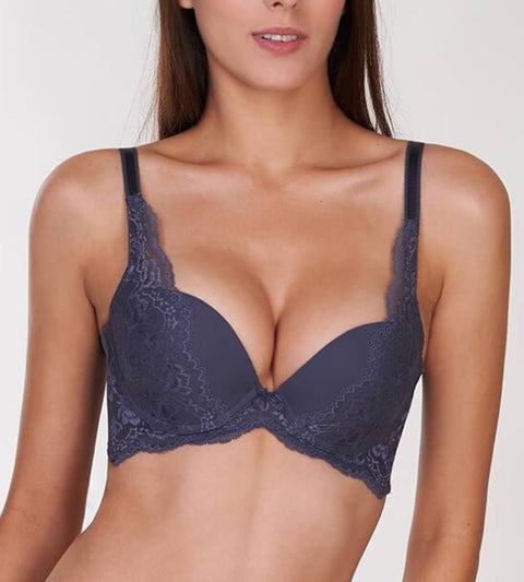 Natural Elegance Wired Support Bra - PEBBLE GREY