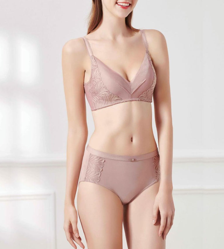 Sculpt Poetic Non Wired Support Bra - CHOCOLATE MOUSSE