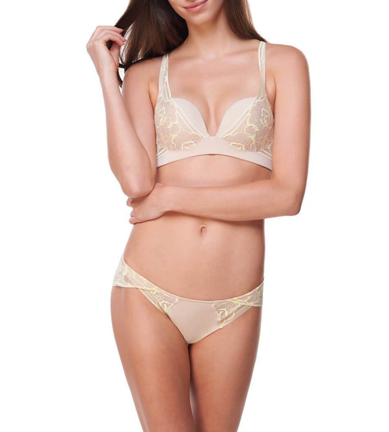Sexy Cushion Grace Non Wired Push Up Bra - NUDE BEIGE