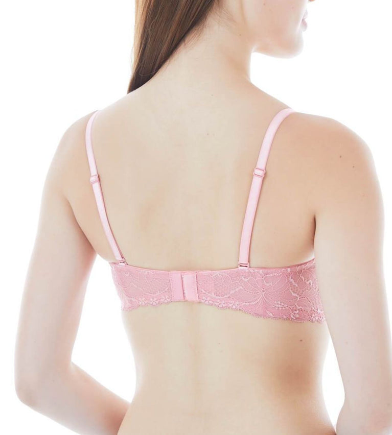 Starry Floral Wired Push Up Bra With Detachable Straps - SHELL PINK