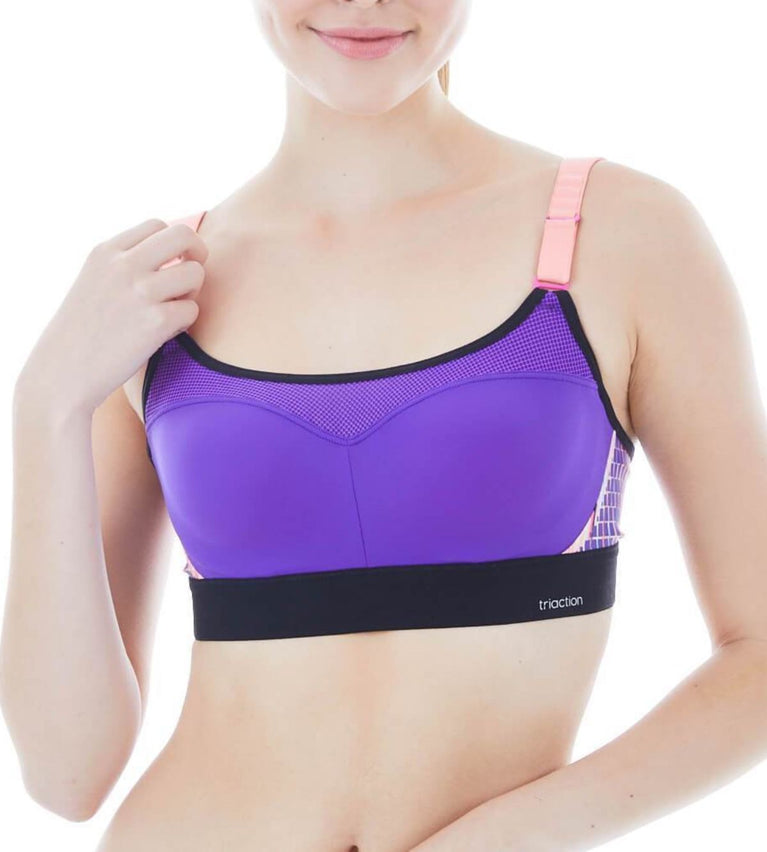 Triaction Control Lite Wired Padded Sports Bra - BRIGHT PURPLE