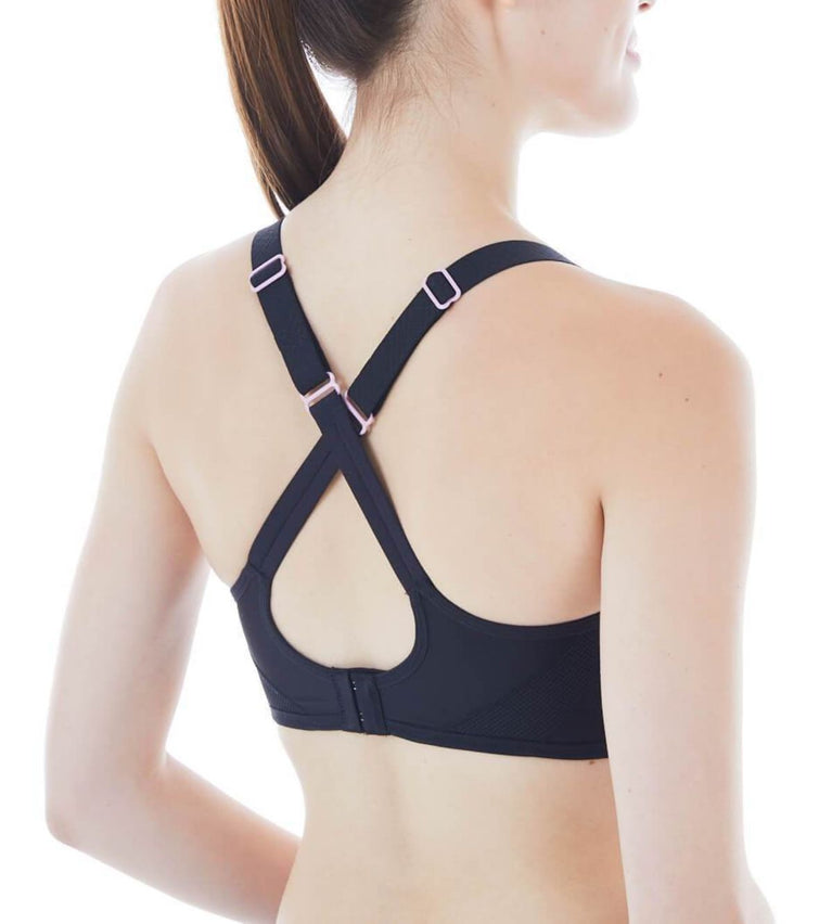 Triaction Magic Motion Non-wired Padded Sports Bra - BLACK