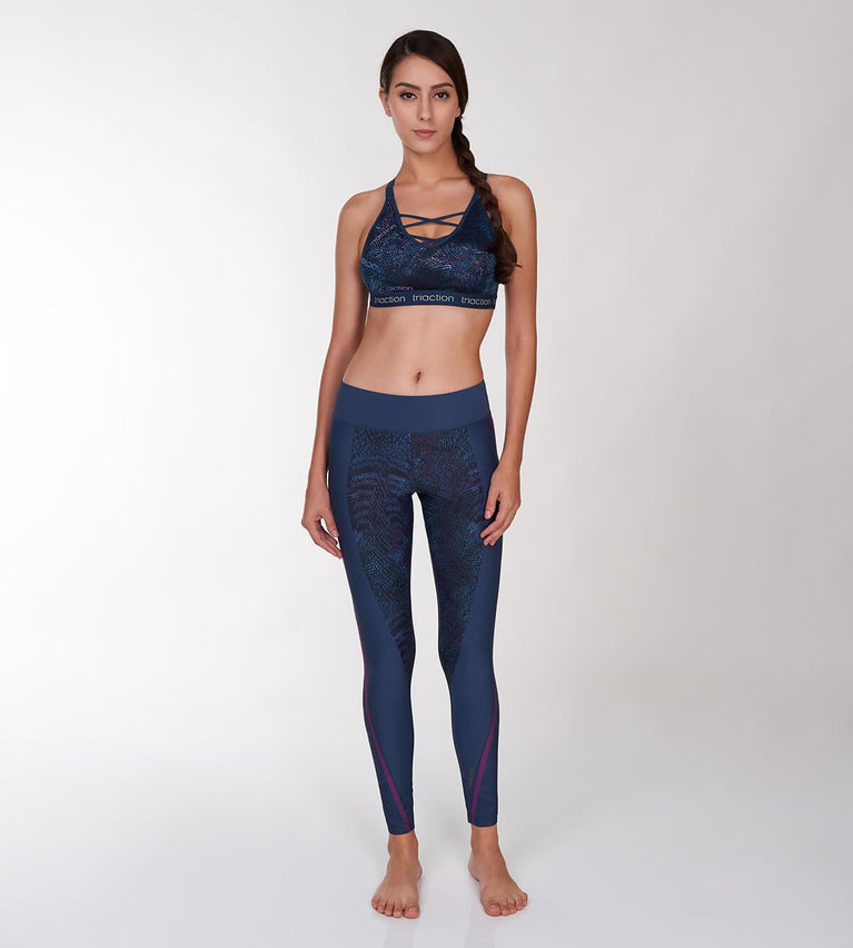 Triaction Sports Non-Wired Sports Bra - GREEN - DARK COMBINATION