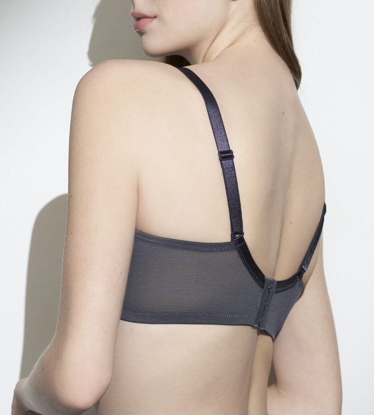 Uplift Foliage Wired Support Bra - PEBBLE GREY