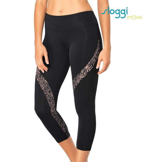 mOve Flow Light Sports Capri - BLACK COMBINATION