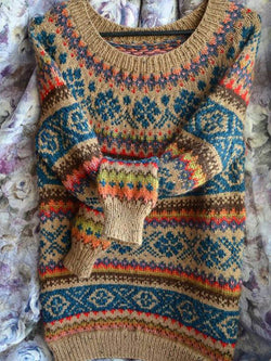Irisruby Christmas Jumpers Plus size Knitted Cotton Boho Tribal Shirts&Pullover