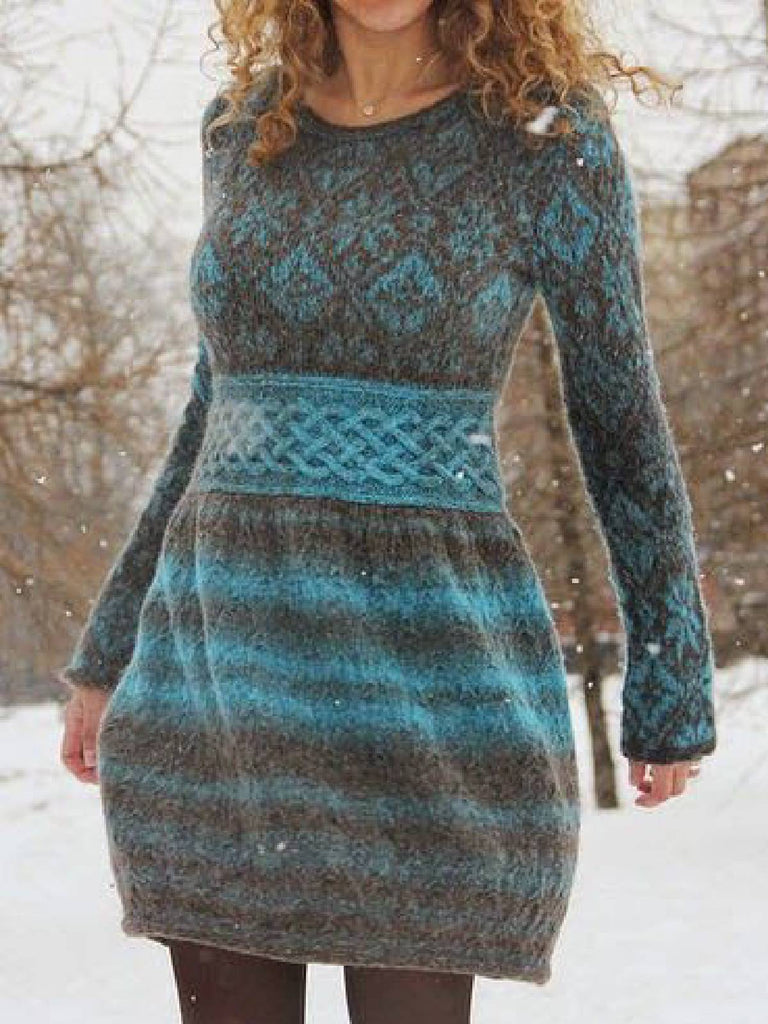 Irisruby Jumper Dress Winter Long Sleeve Casual Skater Dresses