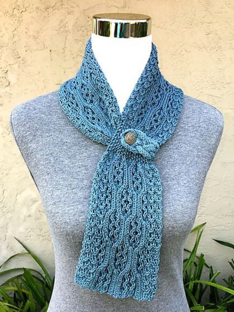 Women Knit Wrap Puffy Warm Scarf