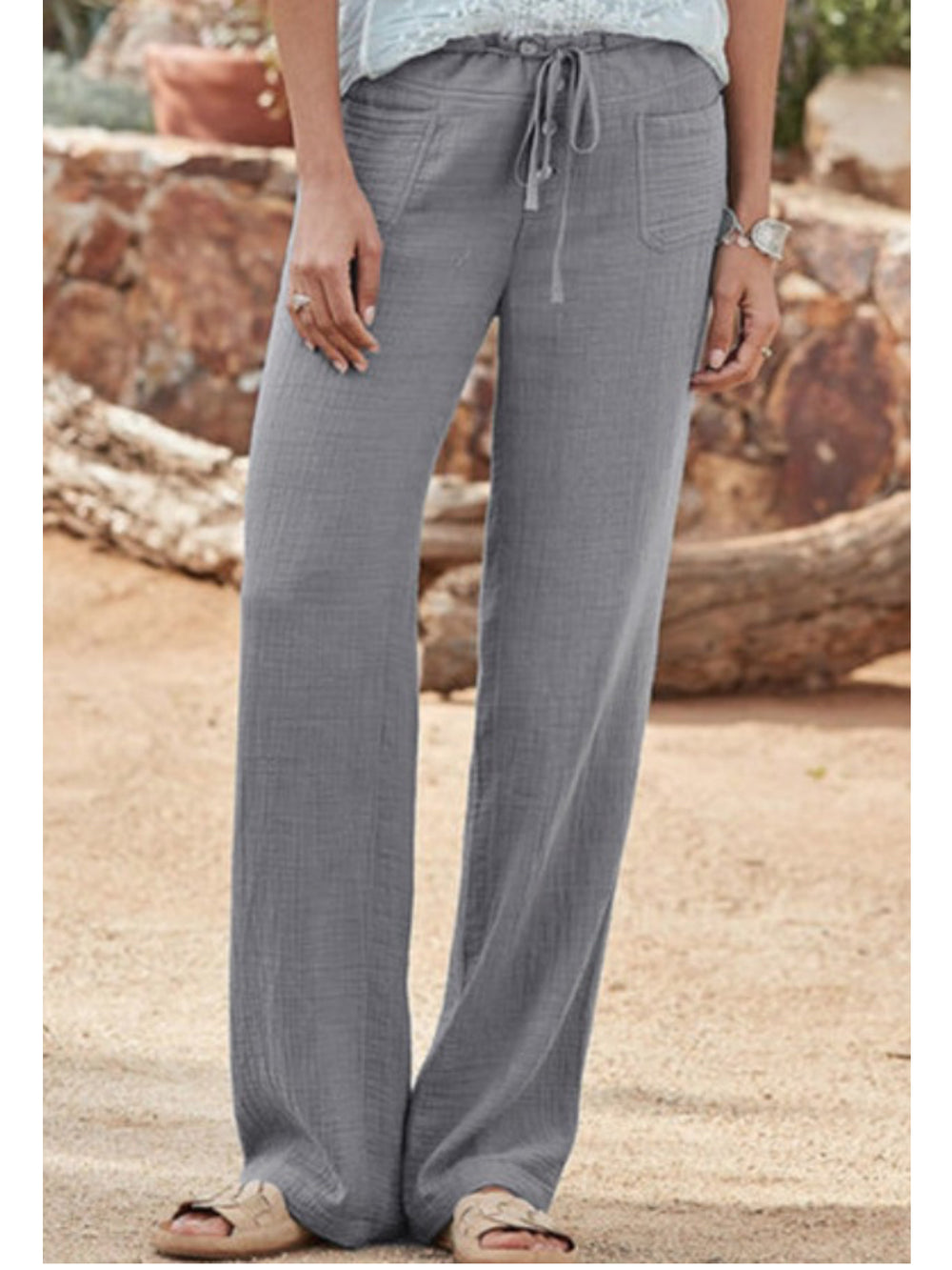 Women Casual Pocket Pants