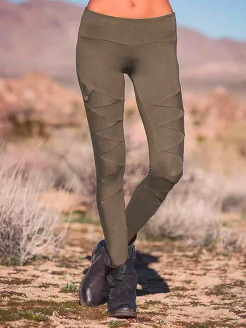 Solid Casual Pants