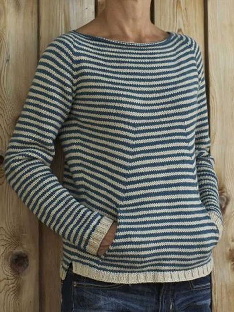 Cotton-Blend Long Sleeve Sweater