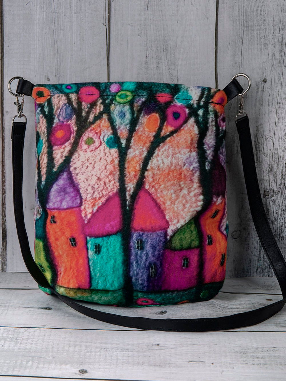 Women Colorful Bag  Floral Boho Large Shoulder Bag