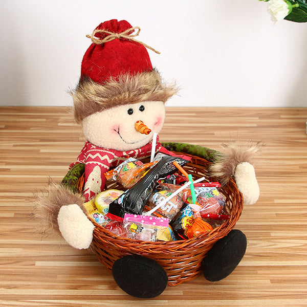 Crazy promotion! Christmas Candy Storage Basket Decoration Santa Claus Storage Basket Gift