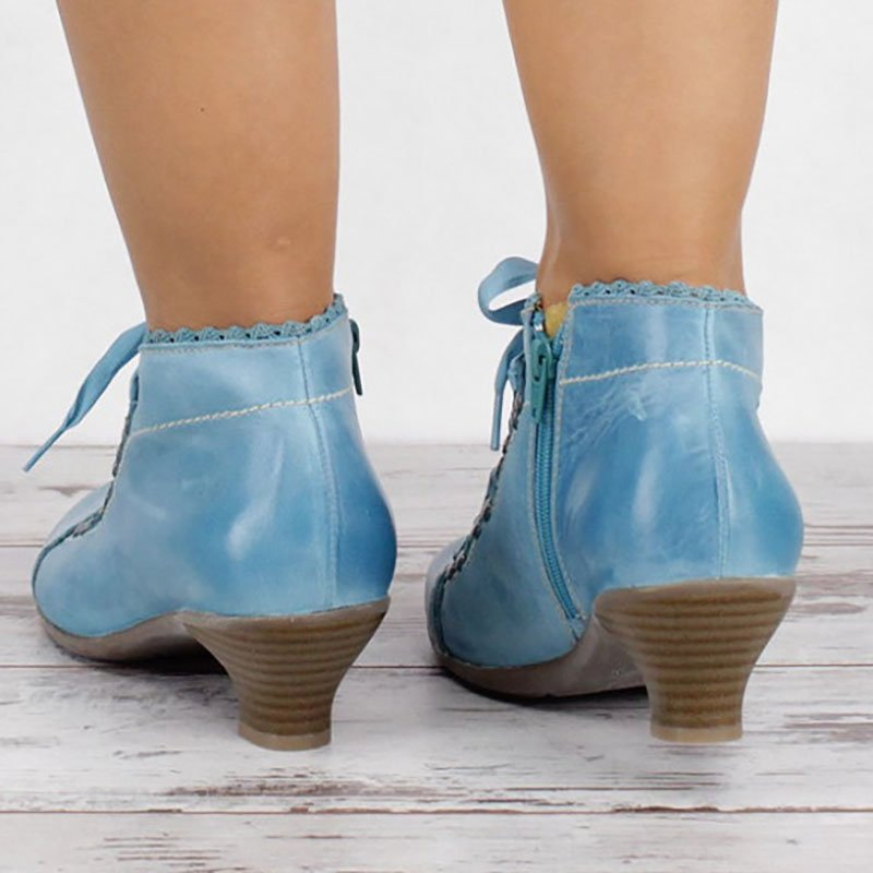 Women Casual Daily Beer Heel Booties