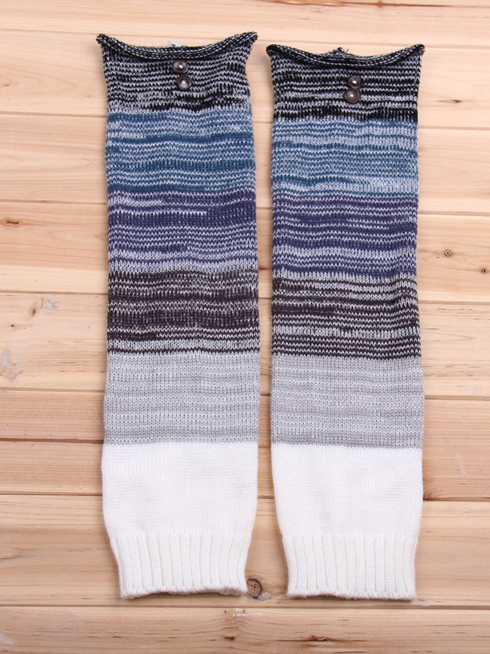 Warm knit leg warmers knee-high socks wool socks