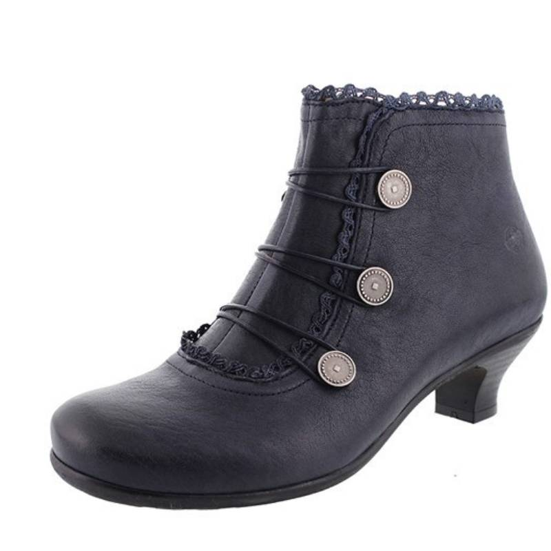 Irisruby Women Winter Boots Leather Comfy Heel Closed Toe Ankle Boots