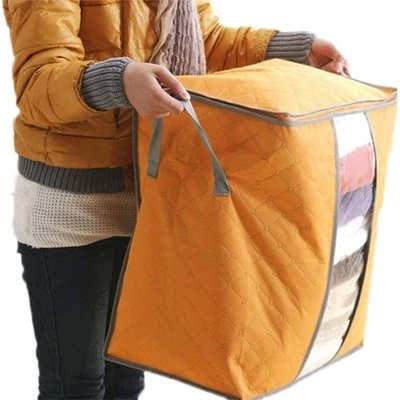 62L Folding Bamboo Charcoal Clothes Large Capacity Storage Bag
