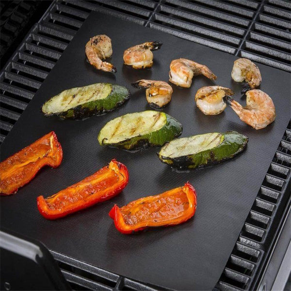 Magic BBQ Grill Floor Mat Reusable Bake Non-Stick Barbecue Pad PTFE Teflon Fiber