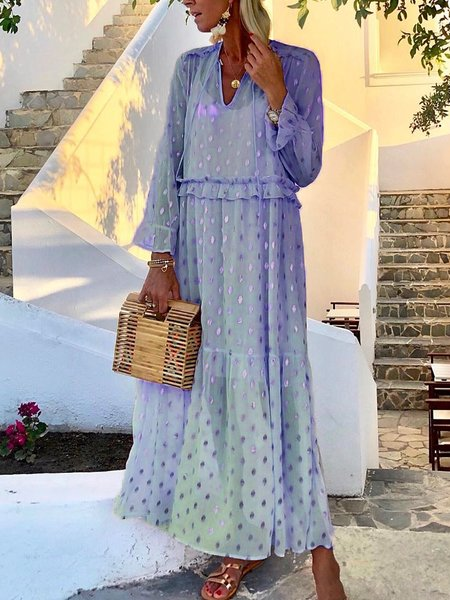 Irisruby Polka Dots Boho Dresses for Women