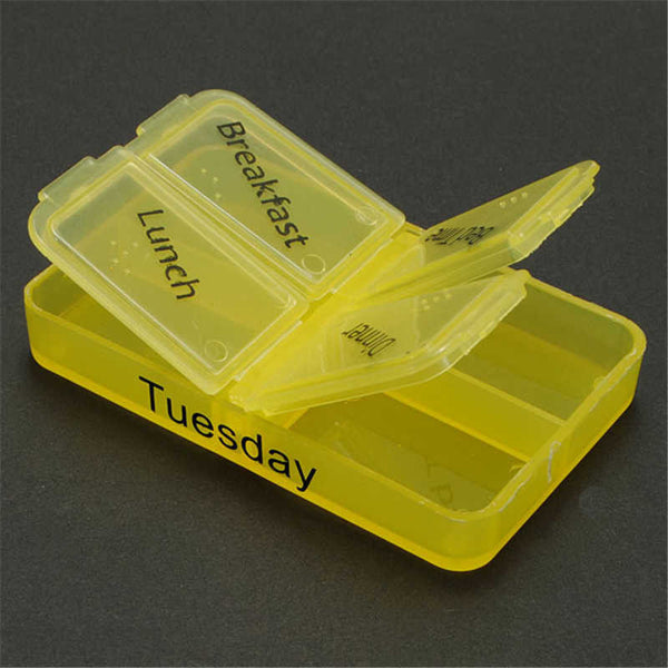 Tablet Pill Boxes Weekly Medicine Storage Container Case
