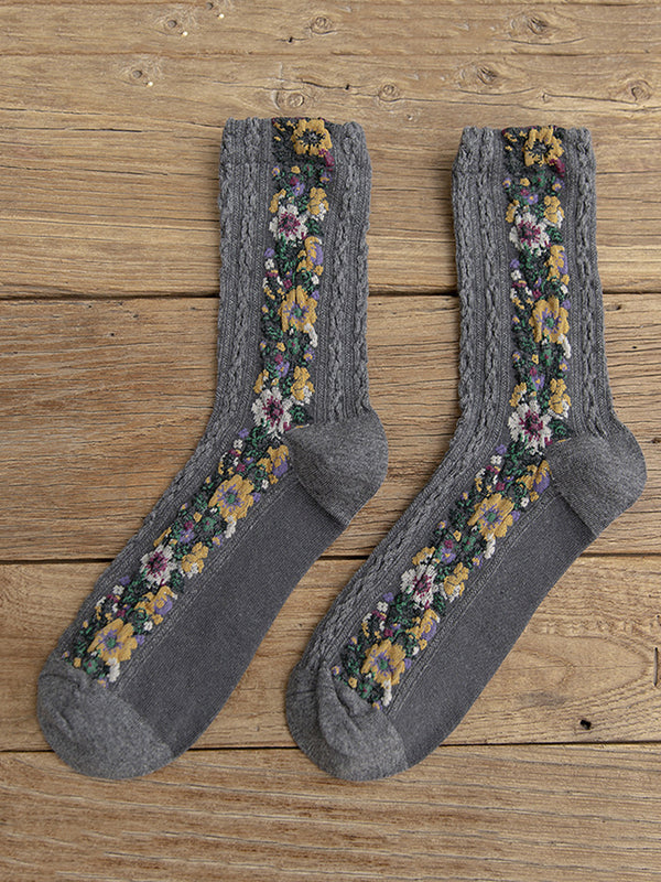 Womne's Cute Flower All Season Socks