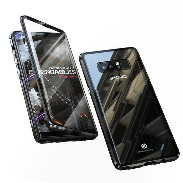 2019 Upgraded Version Magnetic Adsorption Transparent Tempered Glass Two side Glass Cover Phone Case For Samsung