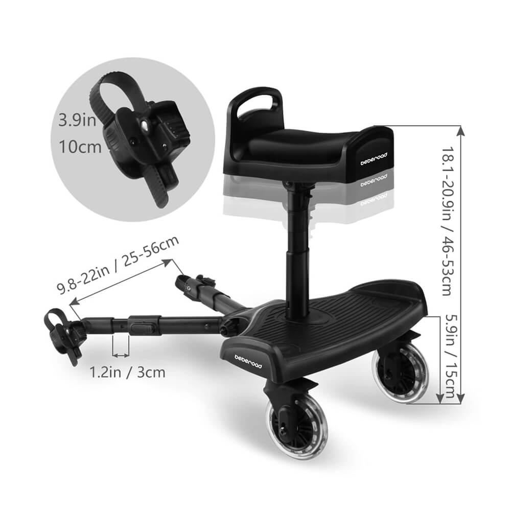 Baby Stroller Glider Board Adjustment Beberoad