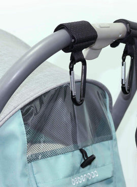 Universal Baby Stroller Hooks with Wrist Strap Fits All Prams and Buggies
