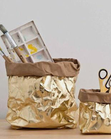 Metallic Bag Gold White