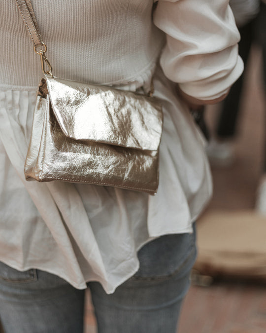 Small Terme Pochette Metallic (vegetale)
