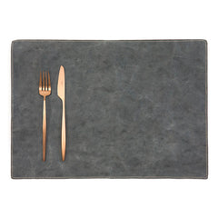 Luxe Paper Placemat Dark Grey