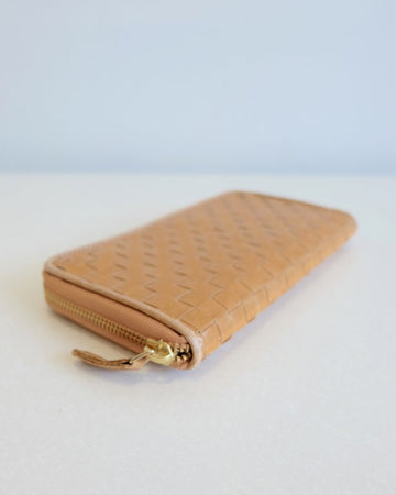 Large Zipped Wallet Weave ~ vegan