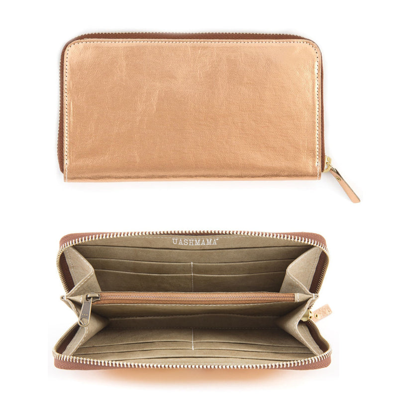 Zipped Wallet Metallic (vegan)