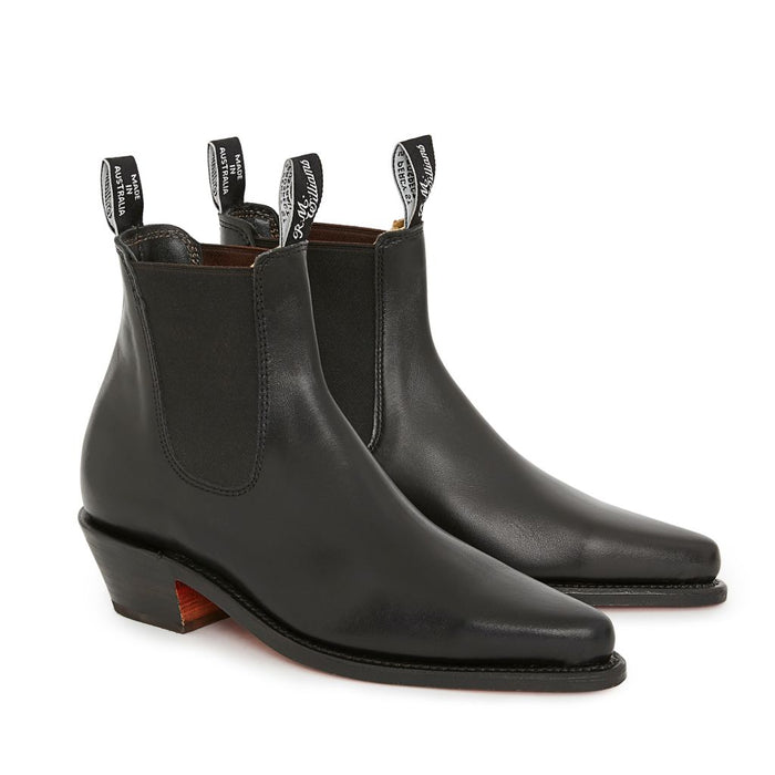 R M Williams Millicent Boot Black D Fit
