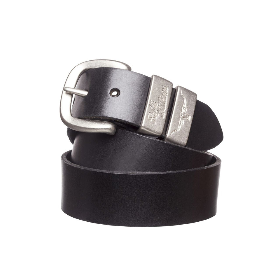 1.5 Inch 3 Piece Solid Hide Belt Black
