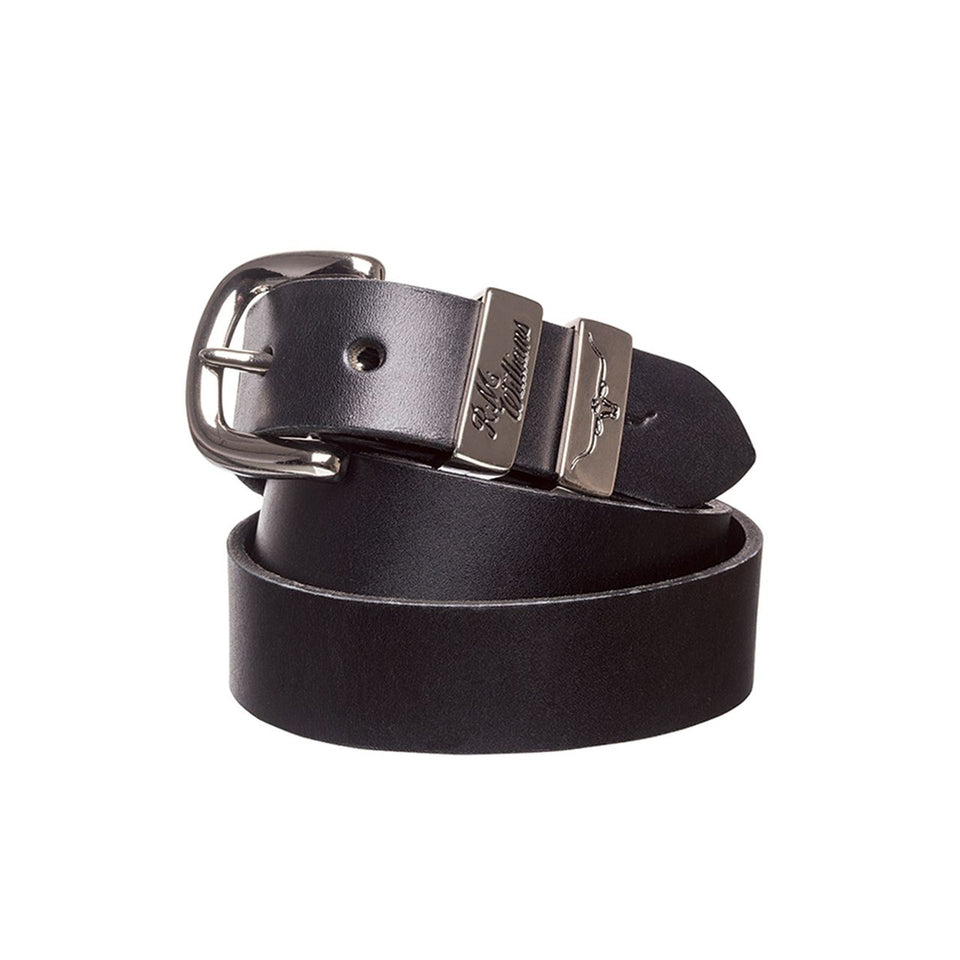1.25 Inch 3 Piece Solid Hide Belt Black