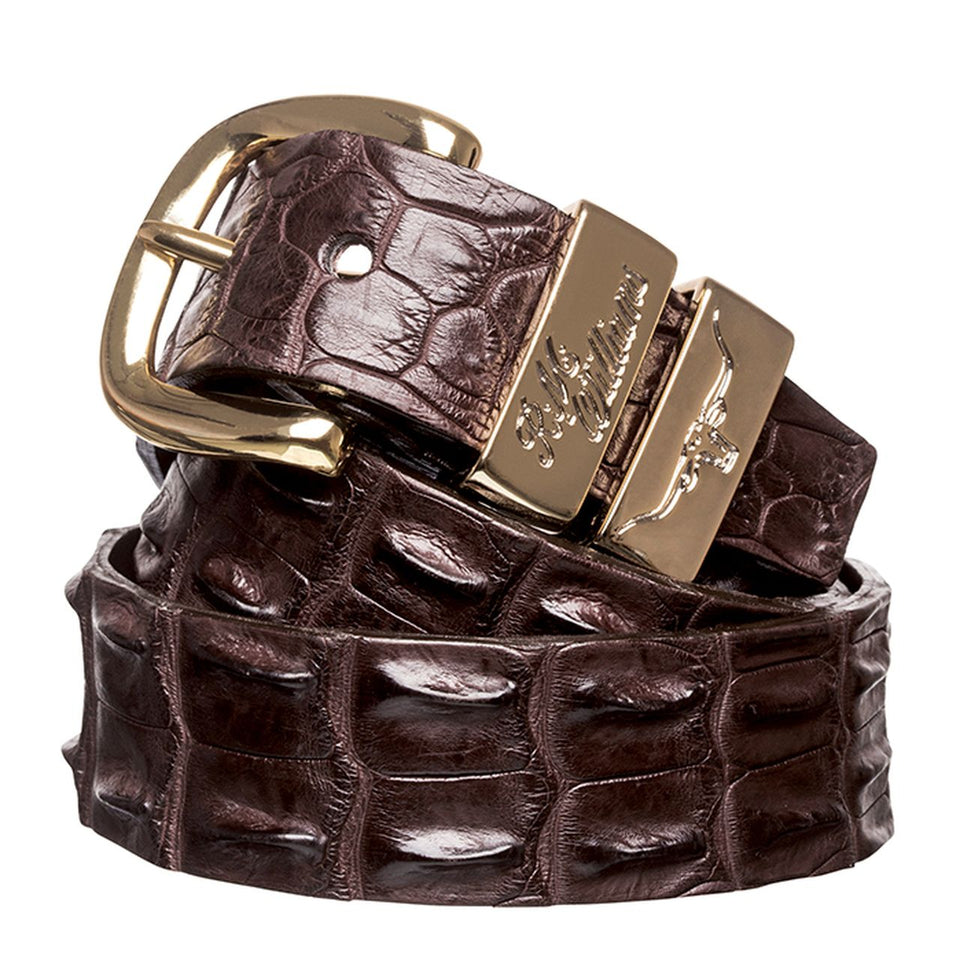 1.5 Inch Crocodile Belt Chestnut