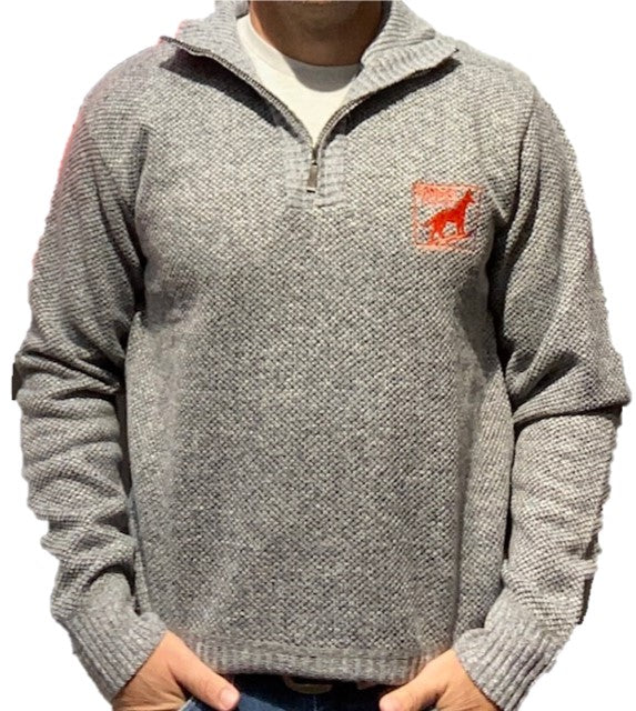 Dingo Flour Mens Lined 1/4 Zip Sweater