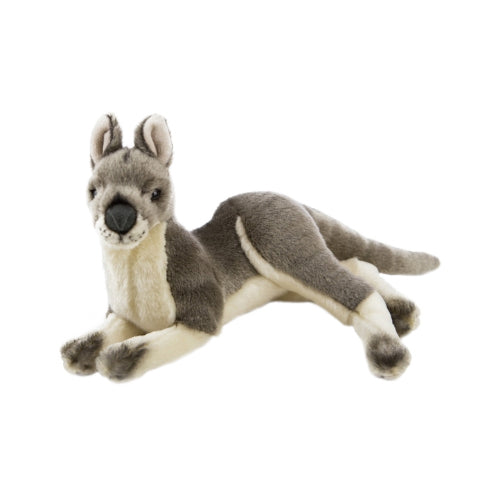 Kangaroo 35cm lying, grey - Joy