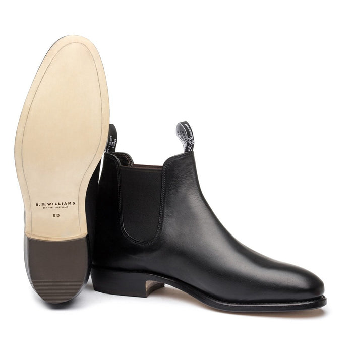 R M Williams Adelaide Boots Black D Fit