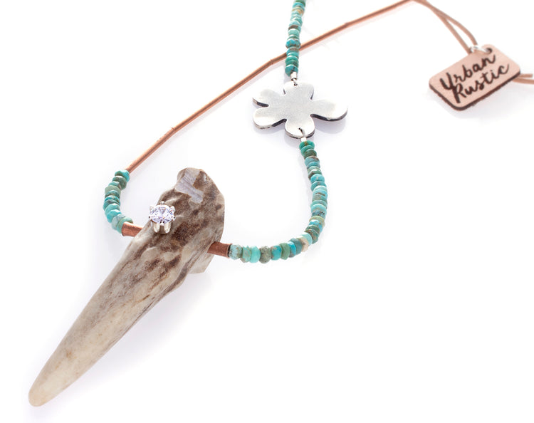 Antler Turquoise Necklace