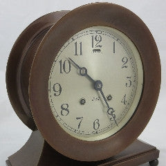 "Chelsea  & Ball Foot  6"" Ship Bells Clock--SOLD"
