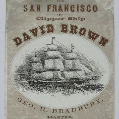 Clipper Ship Card  for Clipper Ship David Brown--SOLD