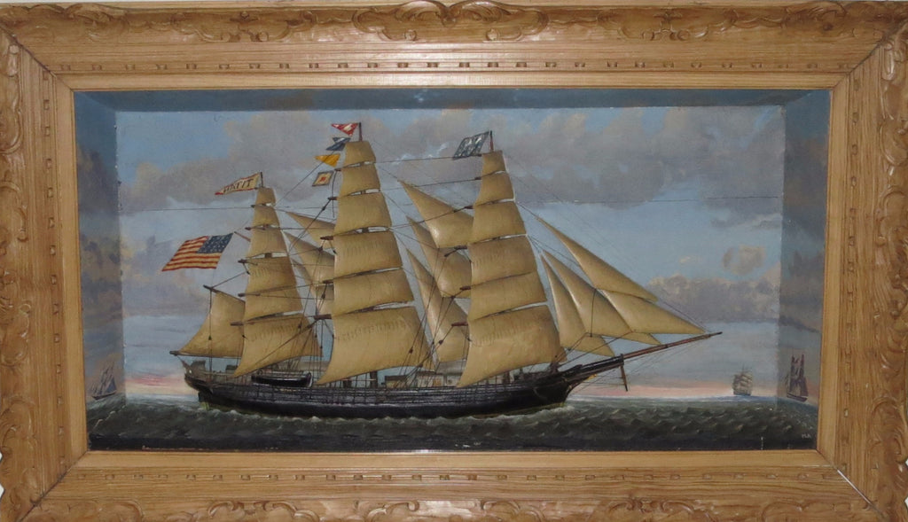 "Clipper Ship ""Titan"" Shadowbox model"