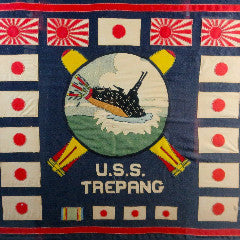 Crew Member Battle Flag From The Submarine  USS Trepang