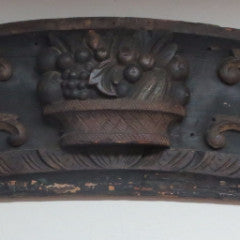 American Carved Ship's Stern Board