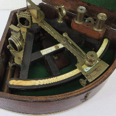 Ebony Sextant Signed Parnell, London-H.Duren New York