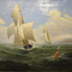 Early Yacht Race In San Francisco Bay--SOLD