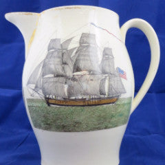 Liverpool Type Creamware Pottery Pitcher